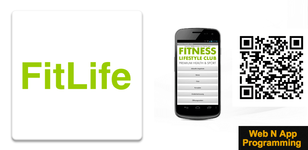 Fitness Lifestyle Club - Android App - Powered by Web N App Programming