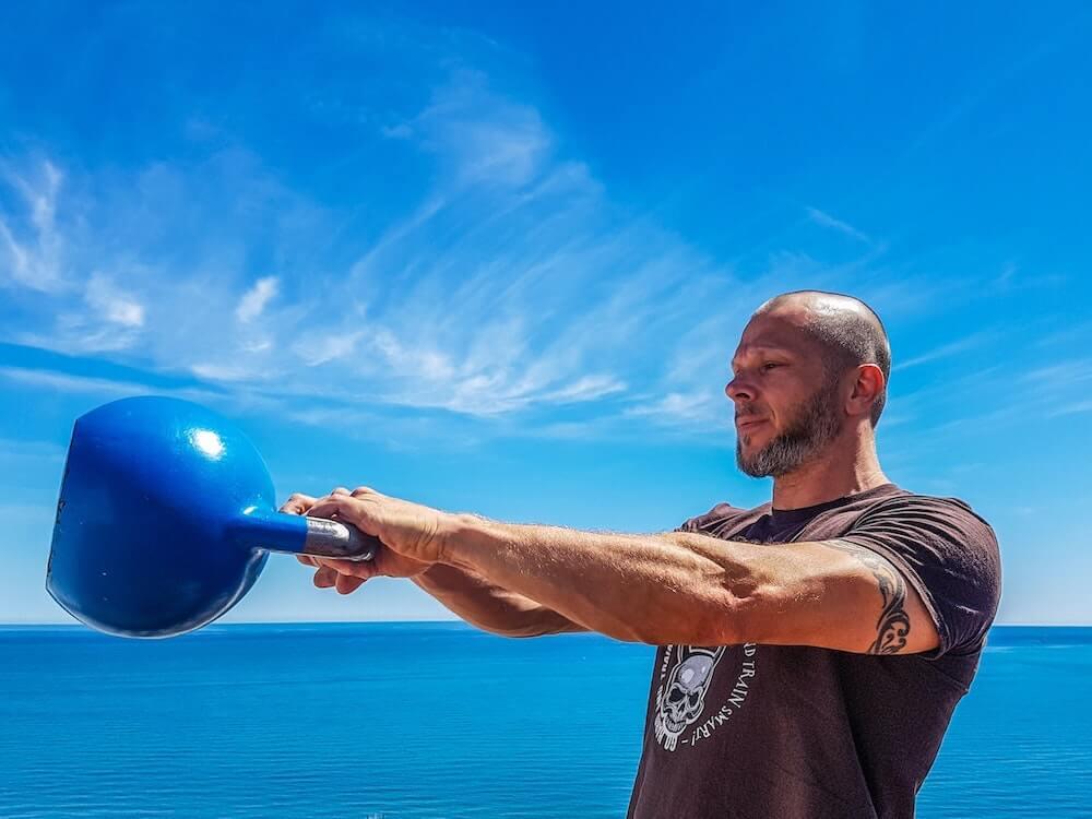 kettlebell swing muskel